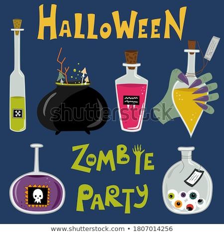 Photo stock: Vecteur · zombie · texte · lumière · gris · fête