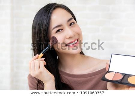 化粧 · 美 · アジア · 女性 · 適用 - ストックフォト © maridav