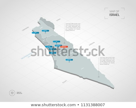 Израиль карта расположение западной Азии город Сток-фото © Volina