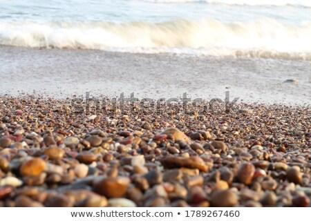 Ciottolo spiaggia acqua sfondo estate Ocean Foto d'archivio © LianeM
