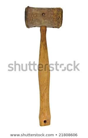 Klasszikus fekete kalapács bőr gabona ács Stock fotó © RedDaxLuma