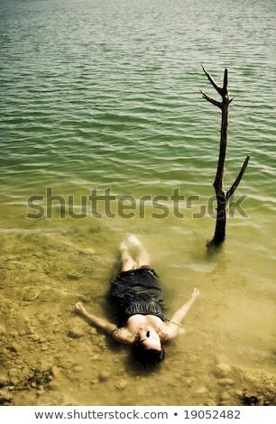 gyilkos · néz · fiatal · macsó · férfi · bőrdzseki - stock fotó © feedough