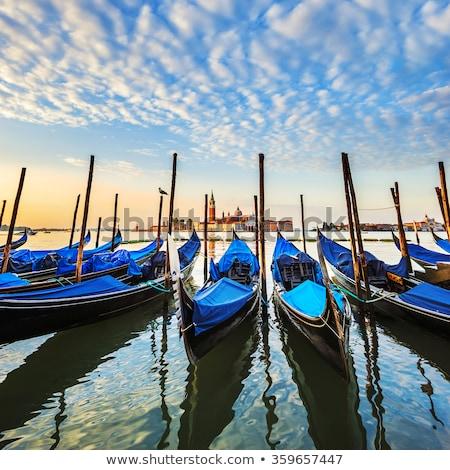 Gondolas in lagoon of Venice Stock photo © vwalakte