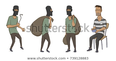 Robber with crowbar Stock photo © Kirill_M