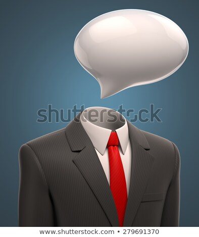 3d businessman with empty speech bubble Stock photo © Kirill_M