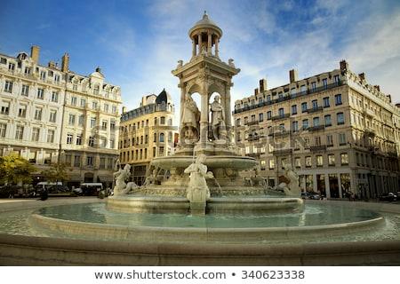 fonte · França · departamento · água · arte · pedra - foto stock © vwalakte