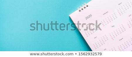 Gündem mavi işaretleyici el yazı şeffaf Stok fotoğraf © ivelin