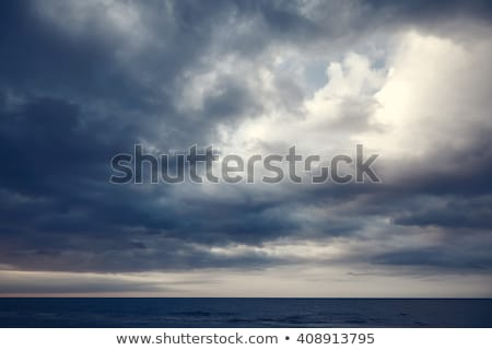 красивой · морской · пейзаж · облачный · небе · морем · пейзаж - Сток-фото © elwynn