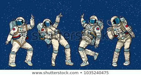 Komiks astronauta bohater ilustracja cartoon charakter Zdjęcia stock © benchart