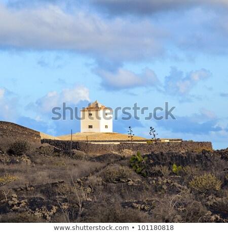 Yaiza, Lanzarote - old  farm house  converted in a home  Stock photo © meinzahn
