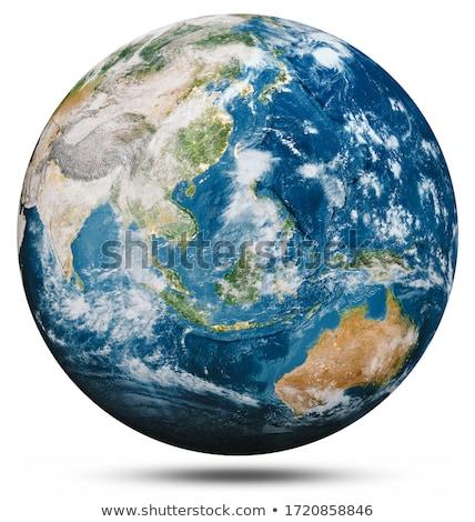 Wereldbol geïsoleerd witte school zee onderwijs Stockfoto © EwaStudio