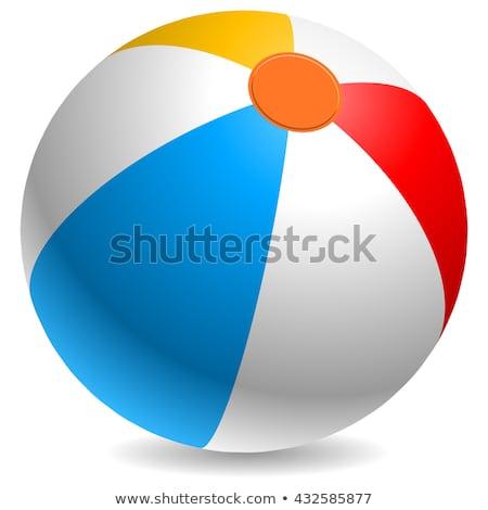 ビーチボール 孤立した 白 スポーツ 海 青 ストックフォト © konturvid