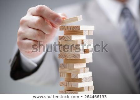 Affaires équilibre simulateur crayon verres financière Photo stock © Tagore75