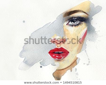 pittura · femminile · sopracciglia · uno · mano - foto d'archivio © maros_b