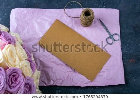 envelope with floral decor flowers are artificial stock photo © natika