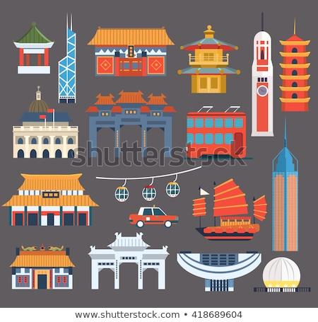 Chinese architectuur details structuur gebouw bouw Stockfoto © tito