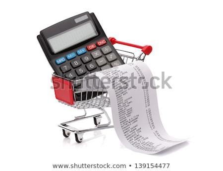 supermarket basket and calculator Stock photo © monkey_business