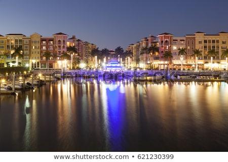 Napoli Florida ufuk çizgisi siluet şehir ABD Stok fotoğraf © blamb