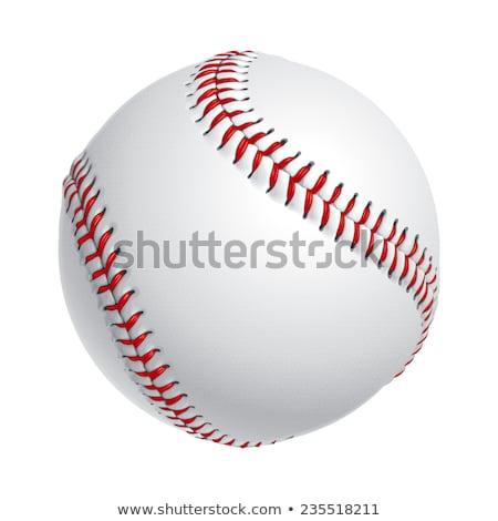 野球 · ボール · 孤立した · 白 · チーム · 革 - ストックフォト © timurock