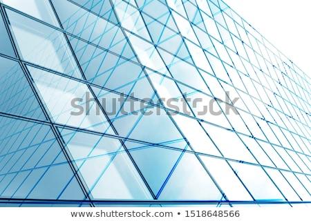 moderne · Blauw · glas · dak · abstract - stockfoto © stevanovicigor