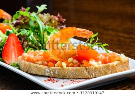 смешанный морепродуктов пластина хлеб различный свежие Сток-фото © franky242