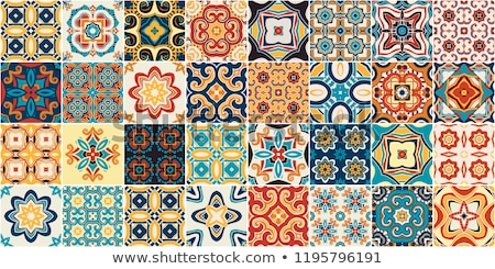 typical portuguese tiles stock photo © elxeneize