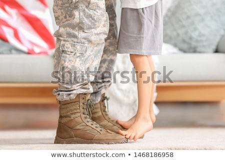 Descalzo mujer piernas blanco zapato moda Foto stock © Novic