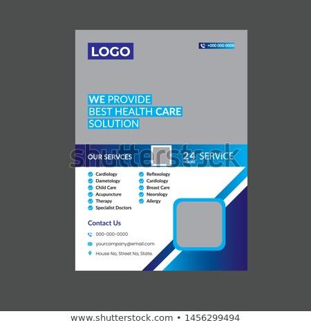 Seguro de saúde aviador cartaz modelo projeto médico Foto stock © redshinestudio