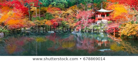 Stock photo: Fall Colors At Japanese Garden