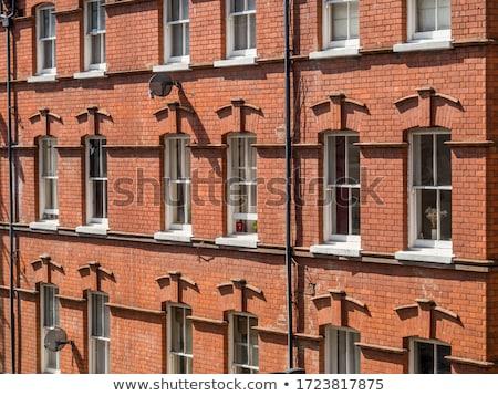 Rojo ladrillo ventana edad pared de ladrillo textura Foto stock © hlehnerer