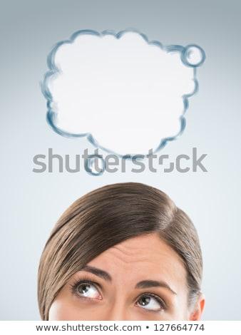 漫画 かなり 女性実業家 思考バブル ビジネス 女性 ストックフォト © lineartestpilot