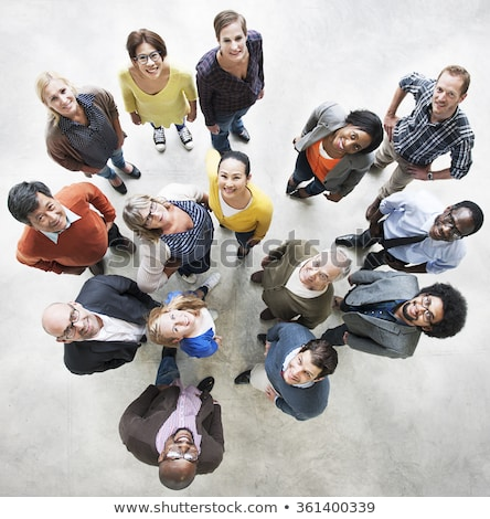 Multiethnic Group Of People Looking Up Stock photo © AndreyPopov