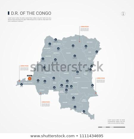 оранжевый кнопки изображение карт Конго форме Сток-фото © mayboro