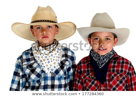 Young cowboy isolated on white Stock photo © Elnur