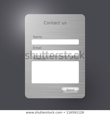 металл текста интернет знак письме белый Сток-фото © bosphorus