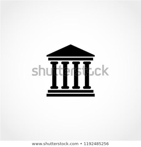 vector · frame · geïsoleerd · witte · gebouw - stockfoto © ylivdesign