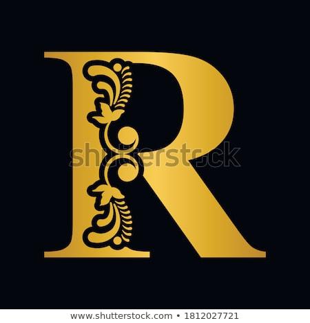 Golden letter R Stock photo © Taigi