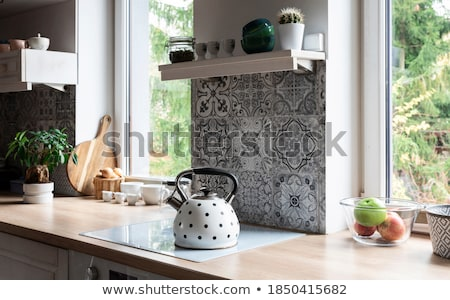 modern big kettle stock photo © ozaiachin