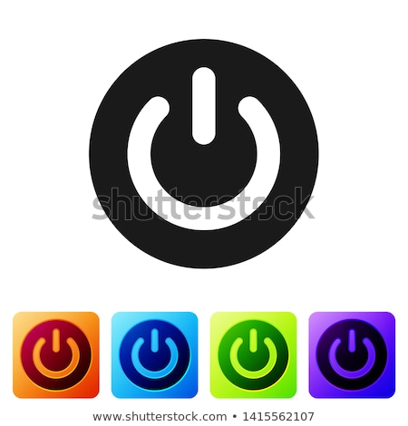 energy sign and symbol square vector black button icon stock photo © rizwanali3d