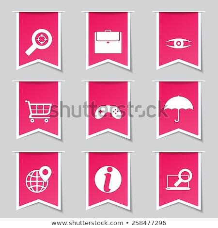 Seo internet felirat rózsaszín vektor gomb Stock fotó © rizwanali3d
