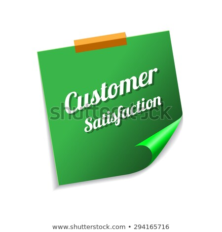 Customer Satisfaction Green Sticky Notes Vector Icon Design Stock photo © rizwanali3d
