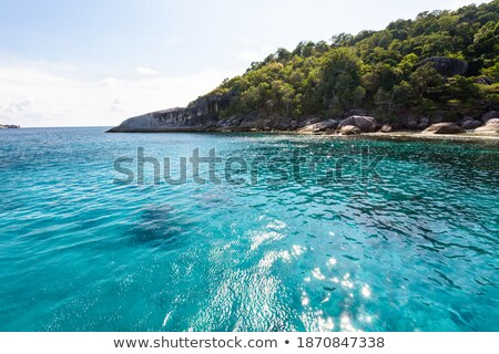 Sea for diving at Koh Payu, Similan island, Thailand Stock photo © Yongkiet
