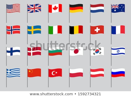 İsviçre Norveç bayraklar bilmece yalıtılmış beyaz Stok fotoğraf © Istanbul2009