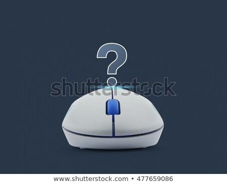 Kék modern drótnélküli számítógép egér fehér iroda Stock fotó © shutswis