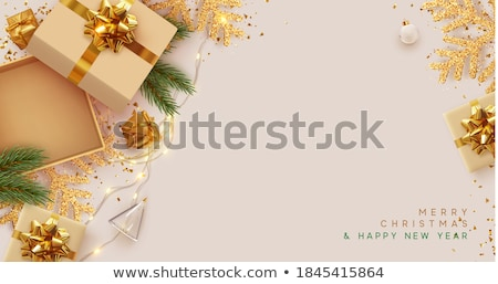 Stockfoto: Lege · christmas · banners · lichten · decoraties · ingesteld