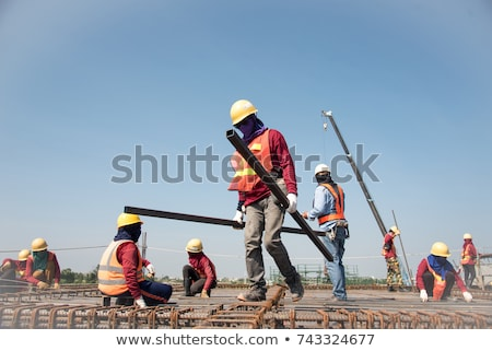 Pouring concrete at a construction site - closeup Stock photo © lightkeeper