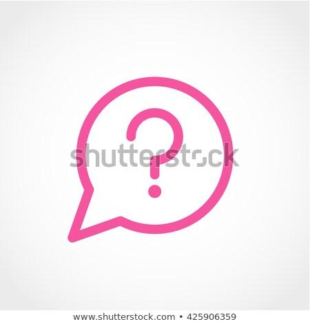 Preguntas frecuentes rosa vector botón icono diseno Foto stock © rizwanali3d