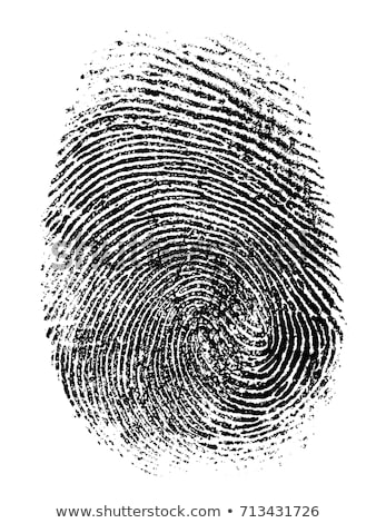 white fingerprint Stock photo © prill