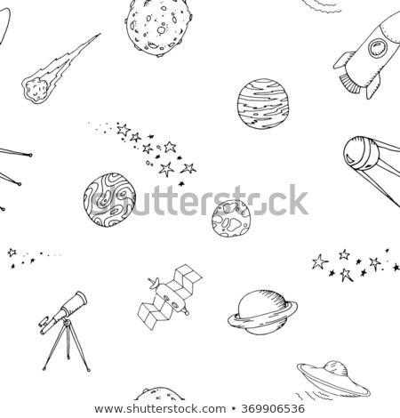 Seamless dooble space pattern set Stock photo © netkov1