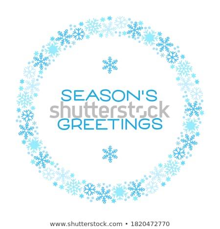 winter snow background with snowflakes eps 8 stock photo © beholdereye